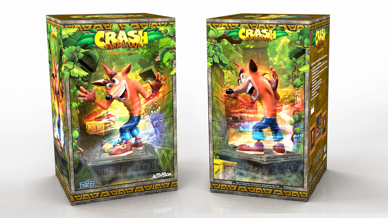 Crash Bandicoot 3D Packaging mockup